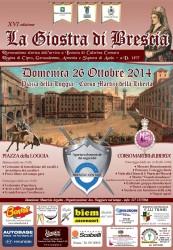 Locandina XVI edizione de La Giostra di Brescia